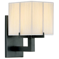 Sonneman Boxus 1 Light Sconce in Black Brass 3352.51