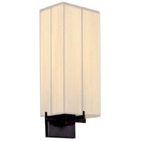 Sonneman Boxus 1 Light Sconce in Black Brass 3353.51
