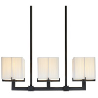 Sonneman Lighting Boxus 3 Light Pendant in Black Brass 3355.51