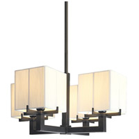 Sonneman Boxus 4 Light Pendant in Black Brass 3356.51