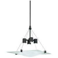 Sonneman Handkerchief 4 Light Pendant in Satin Black 3402.25