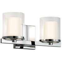 Sonneman Votivo 2 Light Sconce in Polished Chrome 3412.01