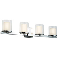 Votivo 4 Light 29 inch Polished Chrome Sconce Wall Light