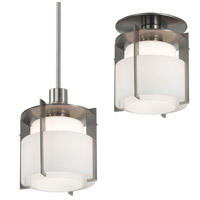 Pool 1 Light 8 inch Satin Nickel Pendant Ceiling Light