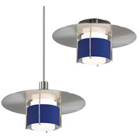 Pool 1 Light Satin Nickel Pendant Ceiling Light