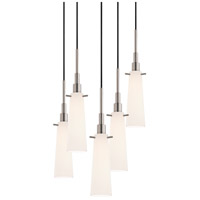 Sonneman Candela 5 Light Pendant in Satin Nickel 3553.13-5