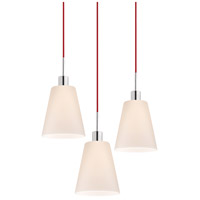Signature 3 Light 19 inch Polished Chrome Pendant Ceiling Light