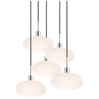 Sonneman Signature 5 Light Pendant in Polished Chrome 3566.01K-5