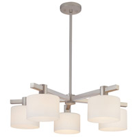 Sonneman Milano 5 Light Pendant in Satin Nickel 3615.13