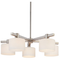 Sonneman Lighting Milano 5 Light Pendant in Polished Nickel 3615.35