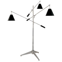 Treluci 69 inch 60 watt Polished Chrome Floor Lamp Portable Light