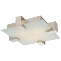 Dakota 2 Light Satin Nickel Pendant Ceiling Light in GU24