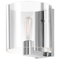 Delano 1 Light 8 inch Polished Chrome Sconce Wall Light in Clear Glass
