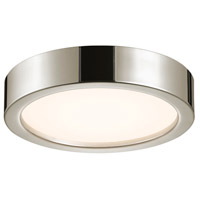 Puck 12 inch Polished Nickel Surface Mount Ceiling Light
