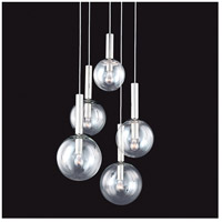 Bubbles 5 Light 21 inch Polished Nickel Pendant Ceiling Light