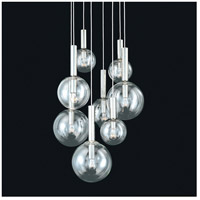 Bubbles 8 Light 23 inch Polished Nickel Pendant Ceiling Light