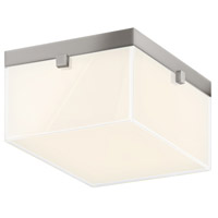 Sonneman 3867.13LED Parallel LED 9 inch Satin Nickel Surface Mount Ceiling Light