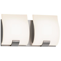 Aquo 2 Light 11 inch Satin Nickel Bath Light Wall Light