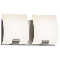Aquo LED 11 inch Satin Nickel Bath Bar Wall Light in 11.25 in.