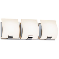 Aquo 3 Light 17 inch Polished Chrome Bath Light Wall Light