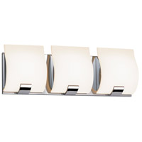 Sonneman Aquo 3 Light LED Bath Bar in Polished Chrome 3883.01LED