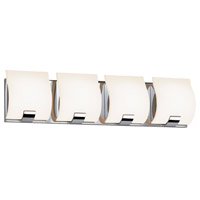 Sonneman Aquo 4 Light LED Bath Bar in Polished Chrome 3884.01LED