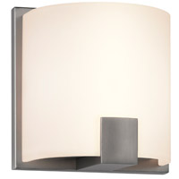 Sonneman C-Shell 1 Light LED Sconce in Satin Nickel 3891.13LED