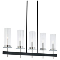 Sonneman Tuxedo 5 Light Pendant in Polished Chrome and Black 4065.54