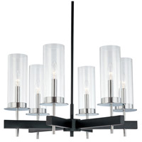 Tuxedo 6 Light 25 inch Polished Chrome and Black Pendant Ceiling Light