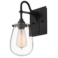 Chelsea 1 Light 5 inch Satin Black Bath Sconce Wall Light in 5.25 in.