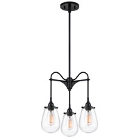 Chelsea 3 Light 15 inch Satin Black Pendant Ceiling Light