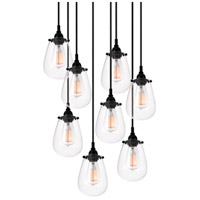 Sonneman Chelsea 8 Light Pendant in Satin Black 4298.25
