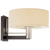 Sonneman Lighting Struttura 1 Light Sconce in Satin Nickel & Black 4301.55