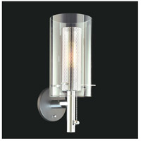 Sonneman Zylinder 1 Light Sconce in Polished Chrome and Satin Black 4391.57