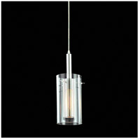 Sonneman Zylinder 1 Light Pendant in Polished Chrome and Satin Black 4394.57