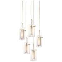 Sonneman Zylinder 5 Light Pendant in Polished Chrome and Satin Black 4397.57