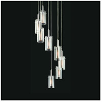 Zylinder 8 Light 27 inch Polished Chrome and Satin Black Pendant Ceiling Light