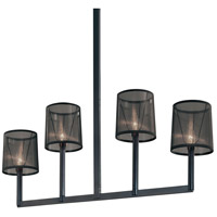Silhouette 4 Light 6 inch Satin Black Pendant Ceiling Light