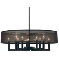 Sonneman Lighting Silhouette 10 Light Pendant in Satin Black 4489.25