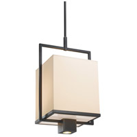 Metro 1 Light 12 inch Black Brass Pendant Ceiling Light