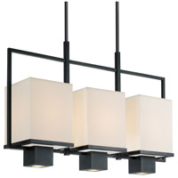 Sonneman Metro 3 Light Pendant in Black Brass 4494.51