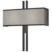 Sonneman Tandem 2 Light Sconce in Satin Black 4522.25
