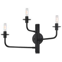 Sonneman Atelier 3 Light Sconce in Satin Black 4540.25