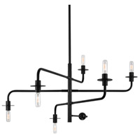 Sonneman Atelier 6 Light Pendant in Satin Black 4546.25
