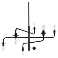 Sonneman Atelier 6 Light Pendant in Satin Black 4546.25 photo thumbnail