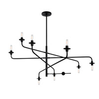 Sonneman Atelier 8 Light Pendant in Satin Black 4548.25 photo thumbnail