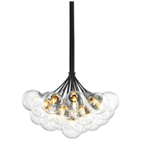 Orb 19 Light 26 inch Polished Chrome Pendant Ceiling Light in Clear Glass