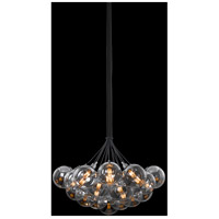 Orb 19 Light 26 inch Polished Chrome Pendant Ceiling Light in Half-Mercury Glass