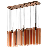 Sonneman Chimes 3 Light Pendant in Polished Bronze 4642.02