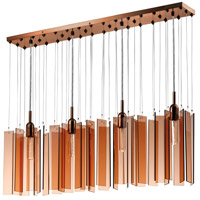 Sonneman Chimes 4 Light Pendant in Polished Bronze 4643.02